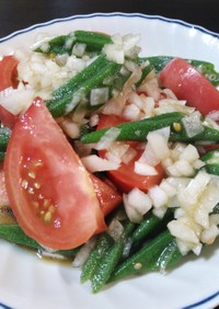 トマト&オクラのサラダ
