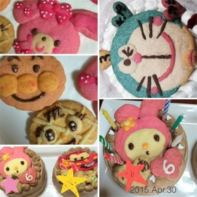 誕生日ケーキデコに♡キャラクッキー