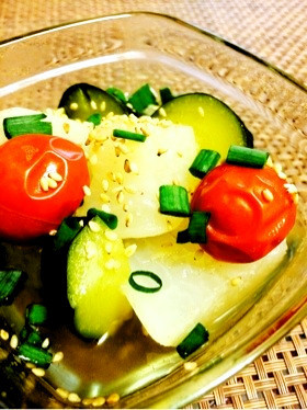 【20分】夏の冷やし鉢☆野菜生姜だし煮