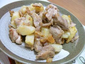 鶏肉とジャガイモの塩レモンソテー♪