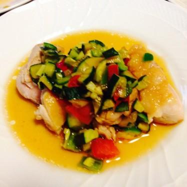 鶏もも肉♡カラフル夏野菜ソース