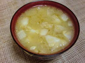 冬瓜のわたのお味噌汁
