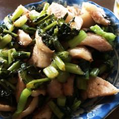 野沢菜と豚トロ