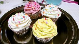 ふわふわデコレーション NYカップケーキ