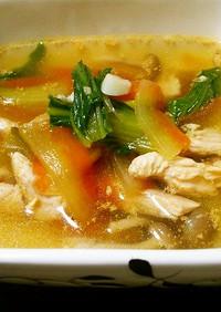 スイカの皮の中華風スープ