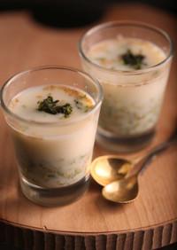 天然だしパックで作る 冷製豆乳和風スープ
