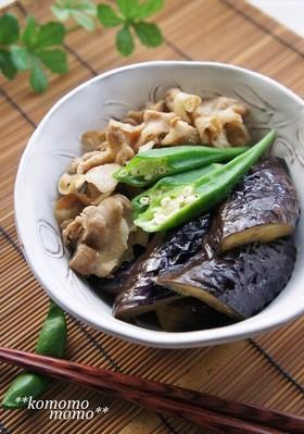 メインにも♫豚肉とナスの煮浸し