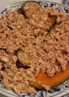 茄子とかぼちゃの鶏そぼろあんかけ♪
