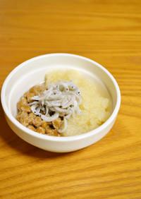 離乳食*完了期『おろし納豆のしらすのせ』