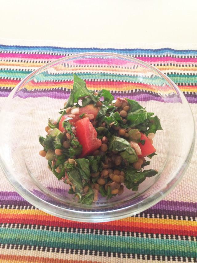 葉酸たっぷり♡レンズ豆とケールのサラダ♡