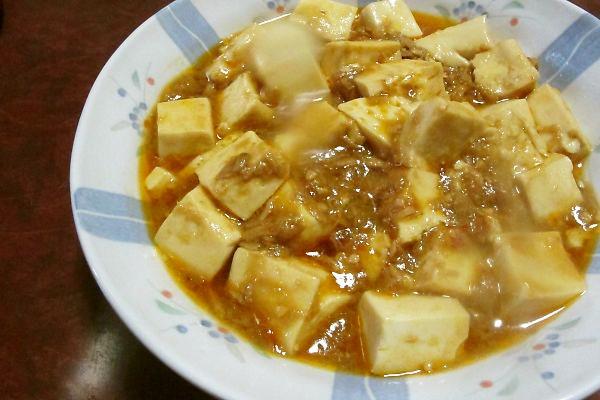 シーチキンの麻婆豆腐