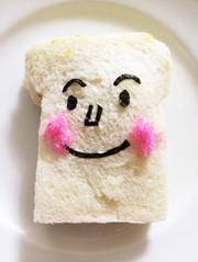 簡単キャラ弁!食パンマンサンドの写真