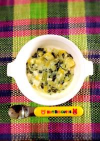 離乳食後期☆チンゲンサイの味噌豆乳煮♡