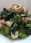 エビマヨ&ゆで卵&枝豆&ほうれん草サラダ