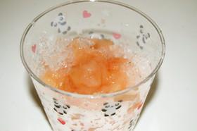 桃でかき氷シロップ風