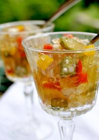 簡単◎夏野菜のコンソメスープジュレ仕立て