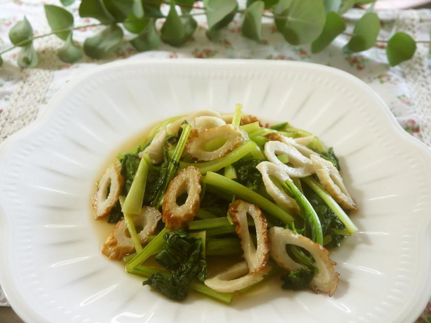 レンジで3分♪ 小松菜と竹輪のさっと煮♡