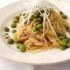 枝豆とカニの冷やし麺