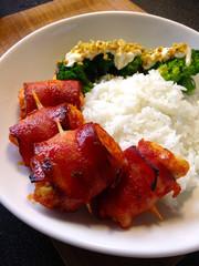 甘辛美味★鶏ささみのベーコン巻きの写真