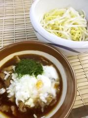 お好み焼きソースで作る簡単焼きそばつけ麺の写真