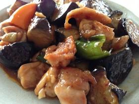鶏肉・なすのピリ辛中華炒め