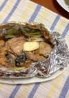 鮭缶とキャベツのホイル焼き