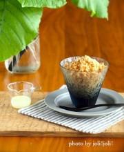ミルクコーヒーのかき氷の写真
