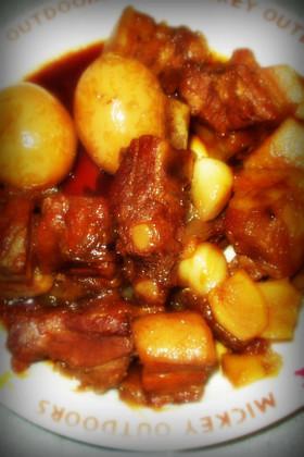 スペアリブ(豚バラ)のコーラ煮&味玉