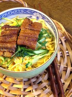 錦糸卵の鰻丼