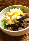 レンジでなす味噌ナムル丼