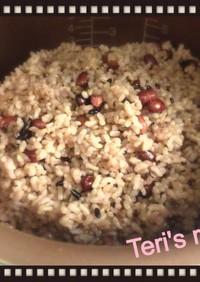 炊飯器で酵素玄米(発酵玄米)雑穀入り