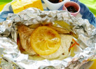 塩レモンでさわらのホイル焼き