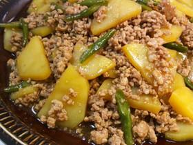 ★豚挽き肉とジャガイモの甘辛炒め★