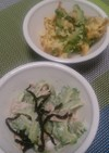 ゴーヤとツナの昆布和えサラダ&チャンプル