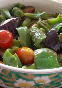 夏野菜のへルシー和風マリネ