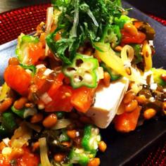 ダイエットにお勧め、混ぜるだけの納豆豆腐