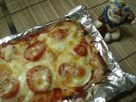 春巻の皮でお手軽☆クリスピー重ねピザ