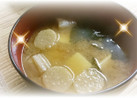 豆腐とわかめと麩の味噌汁