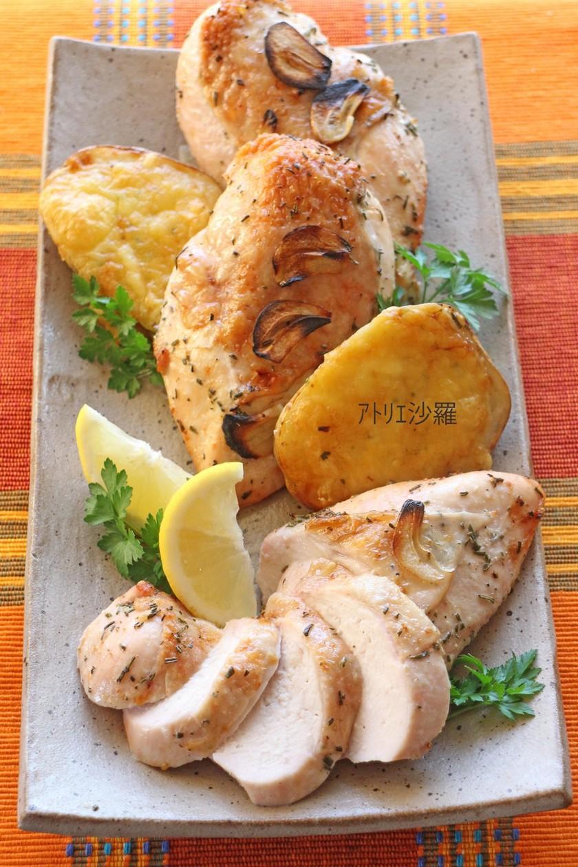 ハーブレモン✿鶏胸肉deローストチキン✿