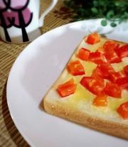 **トマトの簡単トースト**の写真