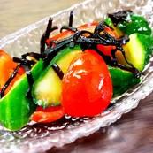 きゅうりとプチトマトの塩昆布和え✡*