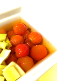 ミニトマトの煮浸し♪
