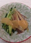 きゅうりとミョウガのぬた(酢味噌がけ)