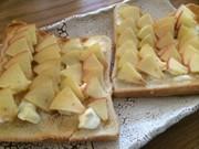 マヌカハニーアップルクリチトーストの写真