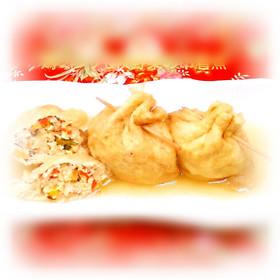 鶏ミンチ&野菜の巾着煮