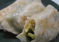 中国の家庭料理☆にらと卵の大判焼餃子