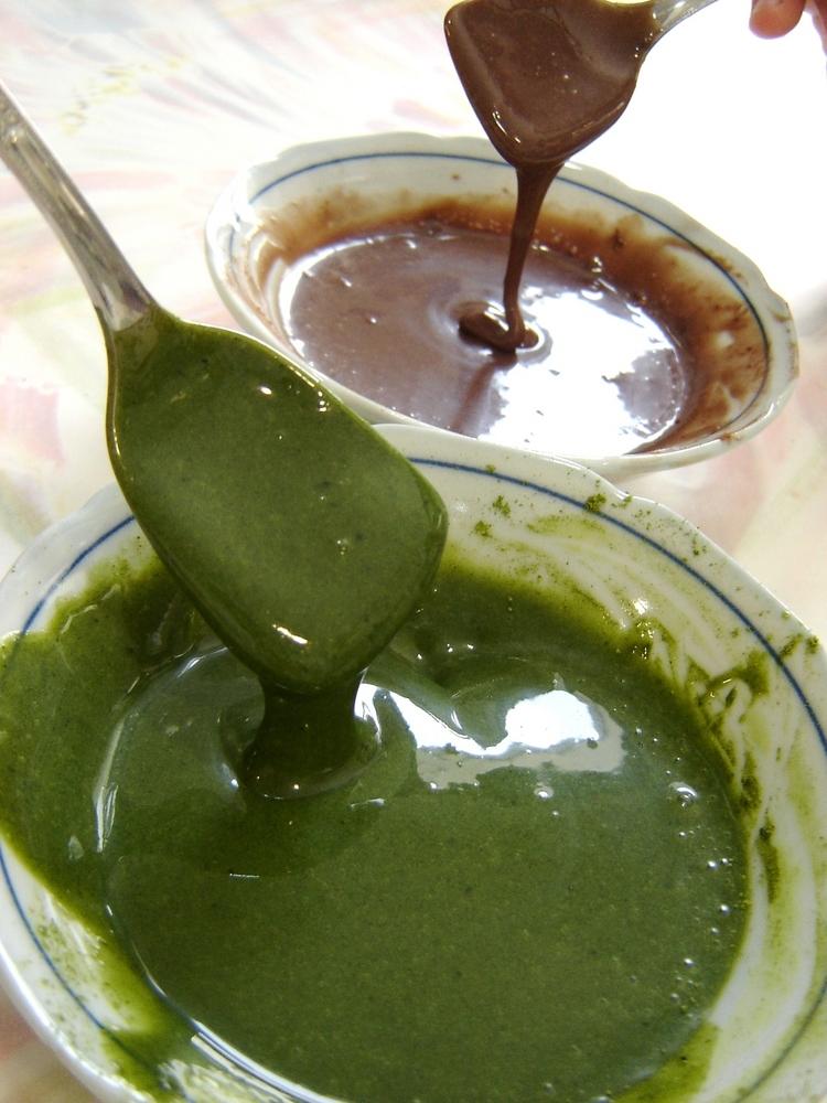 抹茶ミルキーソース&チョコミルキーソース