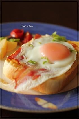 朝食にランチに♪クロックマダム風トースト