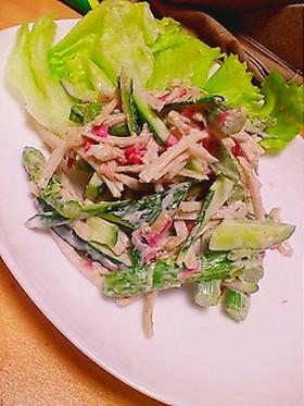 しゃきしゃき野菜のうめぇ~サラダ☆
