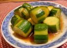 胡瓜の中華風浅漬け